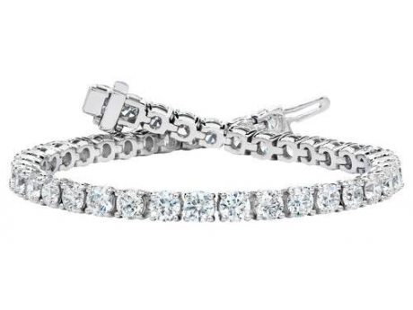 5 Carat Diamond Bracelet - This classic diamond line bracelet is a real stunner, with 5 carats total diamond weight set in 14 karat white gold.